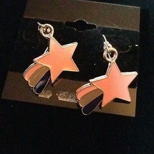 Retro Earrings Pink Star